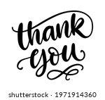 thank you handwritten lettering.... | Shutterstock .eps vector #1971914360