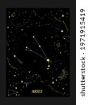 constellation aries on the... | Shutterstock .eps vector #1971915419