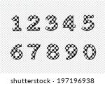 numbers set. illustration | Shutterstock .eps vector #197196938