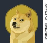 dogecoin crypto currency... | Shutterstock .eps vector #1971969629