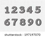 numbers set. illustration | Shutterstock .eps vector #197197070