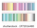 long color pencil set rainbow... | Shutterstock .eps vector #1972016480