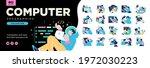 programming illustration set.... | Shutterstock .eps vector #1972030223