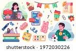 collection of school... | Shutterstock .eps vector #1972030226