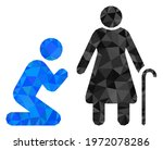 triangle man pray for... | Shutterstock .eps vector #1972078286