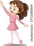 A Girl Ballet Dancer Cartoon...