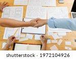 graphic designers handshake...