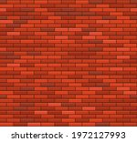 old red brick wall seamless... | Shutterstock .eps vector #1972127993
