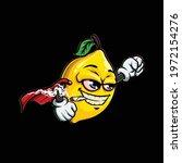 super lemon character cartoon... | Shutterstock .eps vector #1972154276