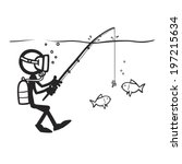 awkward,bad,catch,clumsy,diver,experience,figure,figures,fish,fishing,interface,scuba,stick,usability,user