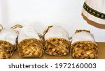 old russian shoes   bast shoes   Shutterstock . vector #1972160003