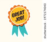 good job sticker label badge... | Shutterstock .eps vector #1972174043