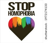 stop homophobia black text...   Shutterstock .eps vector #1972174133
