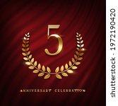 anniversary celebration logo... | Shutterstock .eps vector #1972190420