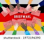 germany bundestag 2021 national ... | Shutterstock .eps vector #1972196390