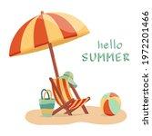 Vector Illustration Of A Summer ...