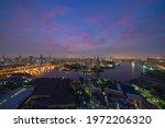 Aerial View Of Bangkok City...