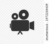 transparent video camera icon...