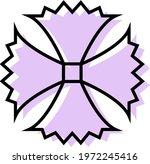 purple unusual flower  icon... | Shutterstock .eps vector #1972245416