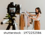 fashion stylist working with... | Shutterstock . vector #1972252586