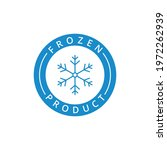 frozen product label  logo  tag ... | Shutterstock .eps vector #1972262939