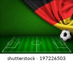 Soccer Or Football Background...
