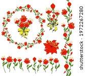 stylized fantasy flowers ...   Shutterstock .eps vector #1972267280