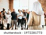 muslim speaker in a workshop | Shutterstock . vector #1972281773