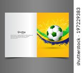 beautiful brazil colors concept ... | Shutterstock .eps vector #197229383