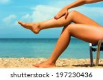 close up of a female legs at... | Shutterstock . vector #197230436