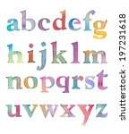 colorful watercolor alphabet...   Shutterstock . vector #197231618