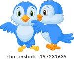 whispering bird | Shutterstock .eps vector #197231639