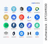 crypto currency coins digital... | Shutterstock .eps vector #1972349030