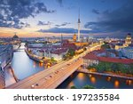Stock photo berlin aerial view of berlin during beautiful sunset 197235584
