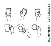 set of hand drawn doodle sketch ...   Shutterstock .eps vector #1972363253