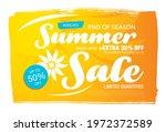 summer sale banner layout... | Shutterstock .eps vector #1972372589