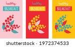 fruit tea and berries tea hand... | Shutterstock .eps vector #1972374533