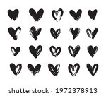 heart icons set. hand drawn... | Shutterstock .eps vector #1972378913