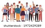 diversity crowd people stand... | Shutterstock .eps vector #1972429289