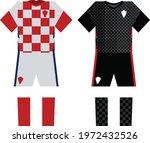 croatia football soccer uniform ...   Shutterstock .eps vector #1972432526