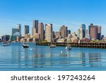Stock photo boston skyline seen from piers park massachusetts usa 197243264