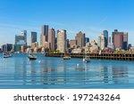 Stock photo boston skyline seen from piers park massachusetts usa 197243264