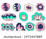 set of abstract shapes   neon...   Shutterstock .eps vector #1972447889