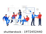 business people working at... | Shutterstock .eps vector #1972452440