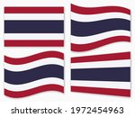 isolated the thailand flag set...   Shutterstock .eps vector #1972454963