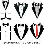 wedding tuxedo svg bow tie ... | Shutterstock .eps vector #1972475453