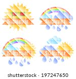 summer background with sun ... | Shutterstock .eps vector #197247650