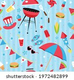 repeating backyard bbq party... | Shutterstock .eps vector #1972482899