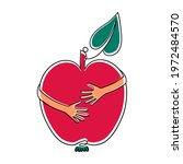 apple hug hands diet lovers...