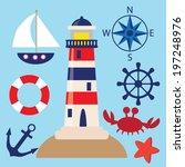 vector yacht illustration | Shutterstock .eps vector #197248976